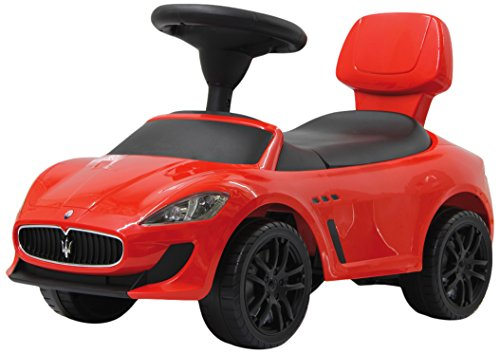 Jamara 460254RUTSCHER Maserati Gran Cabrio MC–Protección antivuelco Incluye, Maletero, Respaldo aufklapp Bar, Faro disuasorio, Motor Sonido, Bocina, Color Rojo