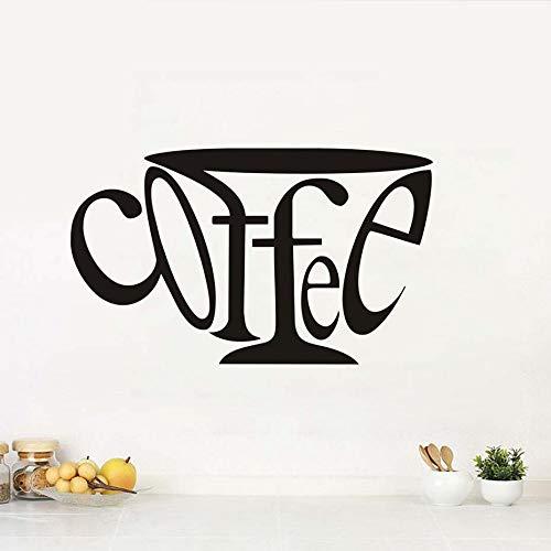 jiushizq Wandaufkleber Buchstaben Kaffee Kunst Kreative Küche DIY Vinyl Home Decals Hintergrund Tapete Wasserdicht Klebstoff Wandbilder Rot 97 cm X 58 cm - Sitzbank Rot, Outdoor