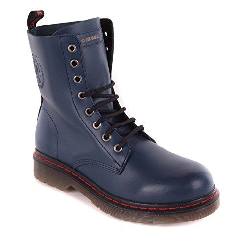 Diesel para mujer Botas de piel botas azul #43, color azul, talla 40