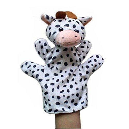 El ganado animal encantador de la felpa de las marionetas de mano