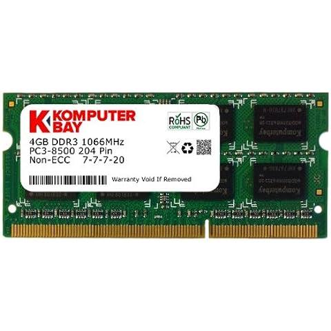 Komputerbay KB_4GBDDR3_HYNIX_HS_SO1066_1 - Módulo de memoria SO-DIMM (204 pines) DDR3 de 4GB, hecho con semiconductores Hynix, 1066 MHz, PC3 8500, con disipador de calor para enfriamiento adicional