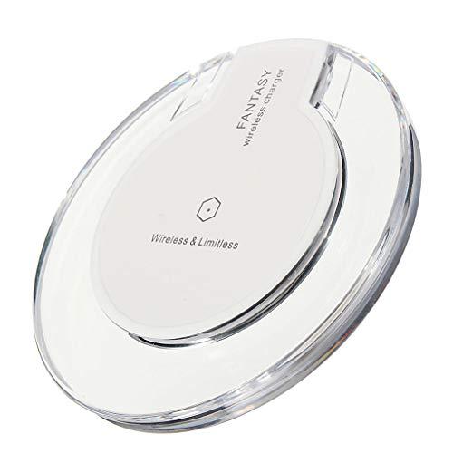 Wireless Charger für Samsung Galaxy Note 10/Note 10+ 5G,Fast Wireless Induktions Ladegerät Charging Pad Ladestation Induktives Handy Schnellladegerät Kabellos für iPhone 8/iPhone 8 Plus (Weiß)