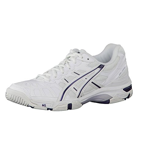 Asics ,  Scarpe sportive indoor Unisex (White/Peacock Blue/Lightning)