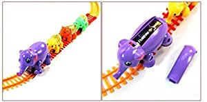 Spartanz Battery Operated Elephant Train Track Toy Gift For Kids (Multi Color)
