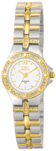 Invicta Wildflower Women's Analogue Classic Quartz Watch with Stainless Steel Gold Plated Bracelet – 0133