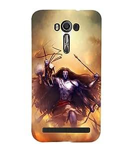 FUSON Bholenath Dance Tandav 3D Hard Polycarbonate Designer Back Case Cover for Asus Zenfone 2 Laser ZE550KL (5.5 Inches)