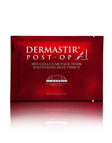 Dermastir Post-OP Bio-Cellular Face Mask Whitening Skin Tissue (Zahnaufhellung Feuchtigkeit)