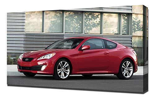Lilarama 2011-Hyundai-Genesis-Coupe-R-Spec-V3-1080 - Art Leinwandbild - Kunstdrucke - Gemälde Wandbilder
