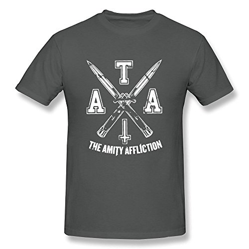Sixtion SHFL Men's The Amity Affliction Logo O-Neck T Shirts Small