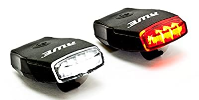 AWE® AWEMicro™ Rechargeable Bicycle Silicone USB 2.0 4 LED's Light Set Black 50 Lumens by AWE®