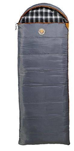 Grand Caynon Utah - Deckenschlafsack, 3-Jahreszeiten, grau/orange, 301004L - Temperatur Limit
