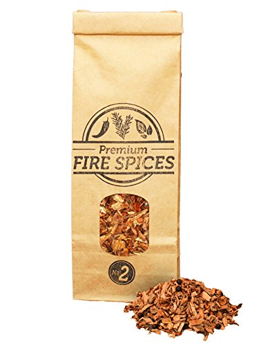 500ml Olive Wood Chips & aromatic Fire Spices, for BBQ and smokers, Smokey Olive Wood