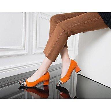 RTRY Donna Appartamenti Comfort Vera Pelle Molla Informale Comfort Di Mandorle Piatto Nero US6 / EU36 / UK4 / CN36