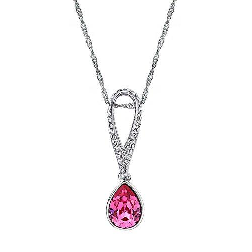 Swarovski Elements Rosa ''Clariee'' Collana