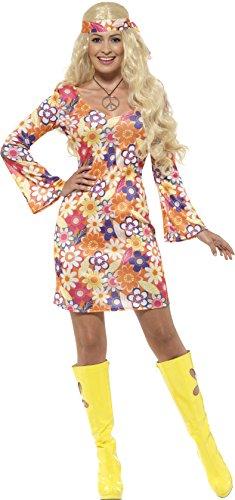 Smiffy'sCostume da hippie figlio dei fiori anni '60, da donna, taglia M