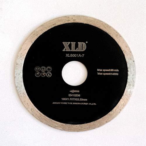SAW BLADE Presionado fría XLD borde continuo de hoja de sierra, perfecta para cortar la baldosa cerámica, granito, mármol, etc., Grado A, de 4 pulgadas, By XLDTOOL ( Size : 105*1.7*7*22.23mm )