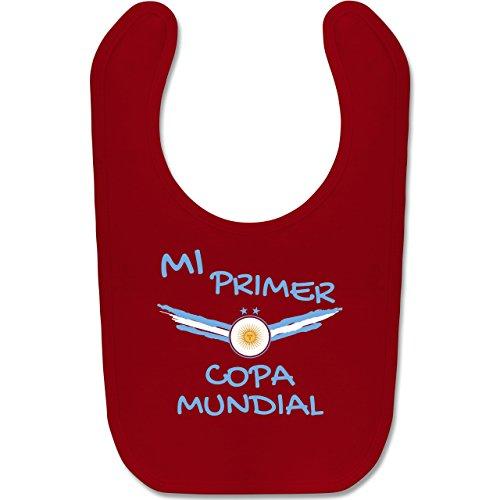 Jungen Für Argentinien Kostüm - Shirtracer Fußball-Europameisterschaft 2020 - Baby - Meine erste WM Argentinien spanisch - Unisize - Rot - BZ12 - Baby Lätzchen Baumwolle