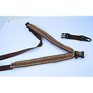 AcidTactical Tactical 550 Paracord Rifle Gun Shotgun Sling 1 Point Compass & Flint NAVAJO