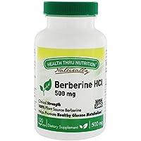 Salud a través de la nutrición - Metabolismo sano de la glucosa de berberina HCl 500 mg. - 120Capsule(s) vegetal