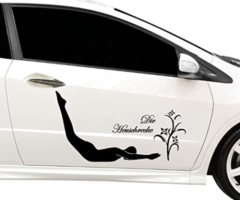 Autoaufkleber Die Heuschrecke Yoga Sport Sticker Auto Tattoo Aufkleber 5G100,
