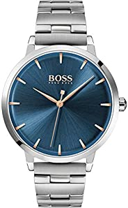 Hugo Boss Womens Quartz Watch, Analog Display and Stainless Steel Strap 1502501