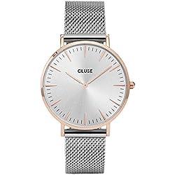 Cluse Reloj Analógico de Cuarzo para Mujer con Correa de Acero Inoxidable – CL18116