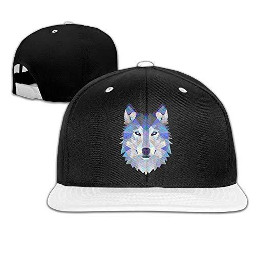 Unisex Wolf Animals Lover Funny Logo Cotton Snapback Hip Hop Flat Tongue Hats Adjustable Baseball Caps for Outdoor Sport (Animal Ark-box)