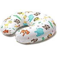 Niimo Cojin Lactancia Bebè Funda Cojin 100% Algodòn Extraíble y Lavable Almohada Multifuncional para Madre y Bebé Relleno de Fibra de Poliéster