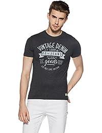 Peter England Men's Plain Slim Fit T-Shirt