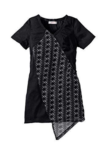 Sheego - Robe - Opaque - Femme Noir Noir-blanc Multicolore - Noir-blanc