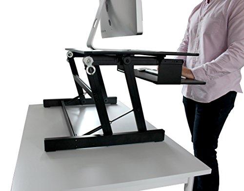Back Standing Desk Height Adjustable Sit Stand Workstation New