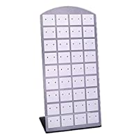 Lorjoyx 36 Pairs/72 Hole Earring Frame Plastic Display Stand Rack L Shape Ear Stud Jewelry Holder Organizer