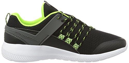 Kappa Stamina, Sneakers Basses Mixte Adulte Noir (Black/green)