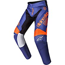 Pantalón Cross Enduro Alpinestars Racer 7 Limited Edition Indianapolis 34 DARK BLUE-ORANGE FLUO