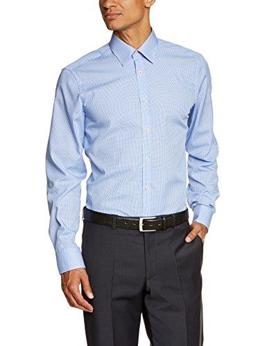 Venti Herren Slim Fit Business Hemd 001860, Gr. Kragenweite: 42, Blau (blau 100)