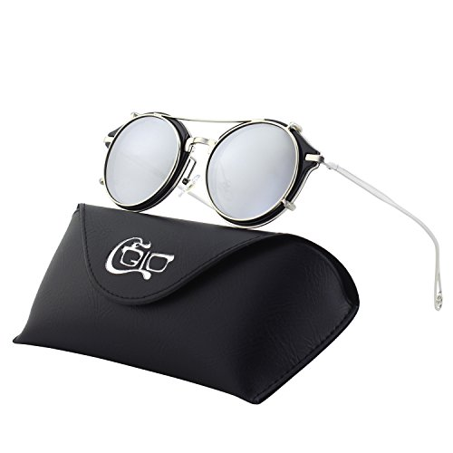 add528dc02 CGID Gafas de Sol Polarizadas Sin Patillas (clip-on) Steampunk Metal Retro  Lente