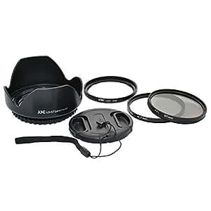 Kiwifotos Kit d'accessoires pour Fujifilm FinePix S1 - Adaptateur d'objectif comprend, Pare-soleil d'objectif, Filtres UV & CPL, Bouchon d'objectif et Bouchon d'Objectif gardien