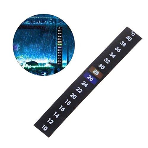 GEZICHTA Thermometer-Streifen, Innen-Thermometer, LCD-Farbwechsel, Temperatur-Streifen für Zuhause, Innen-Messung, Thermometer Karte für Babyflaschen, Aquarien, Autos etc.