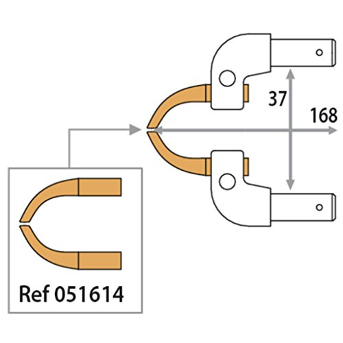 GYS electrodos brazo X11–3bar/150Dan–68mm–aluminio–2Unidades, 1unidades, 051607