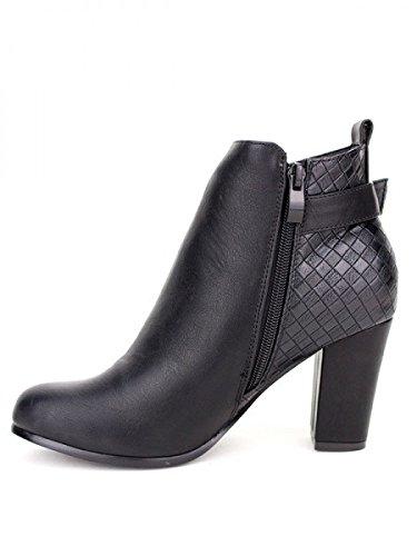 Cendriyon, Bottine noire FILING Mode Chaussures Femme Noir