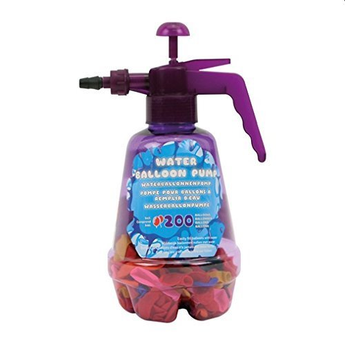 Water Balloon pump filler + 200 quality water balloon bombs by Mascot Europe