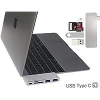 Broonel Prestige Combo Hub 3 en 1 USB 3.0 type C - Hub 3 ports USB 3.0, Adaptateur Lecteur de Carte Mémoire Compatible avec le Macbook Pro 13 2016 with Touch Bar