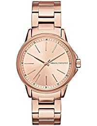Armani Exchange Analog Rose Gold Dial Women's Watch - AX4347