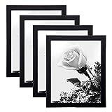 Loveinside Cadre Photo Noir pour Cadre en Verre avec décor Photo ou sur Table, 25,4 x 20,3 cm, Set de 4