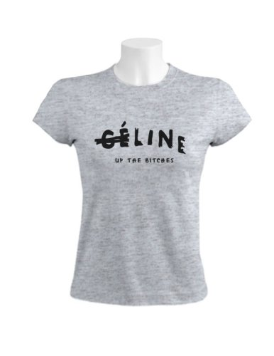 Line Up The Bitches Damen T-Shirt Grau