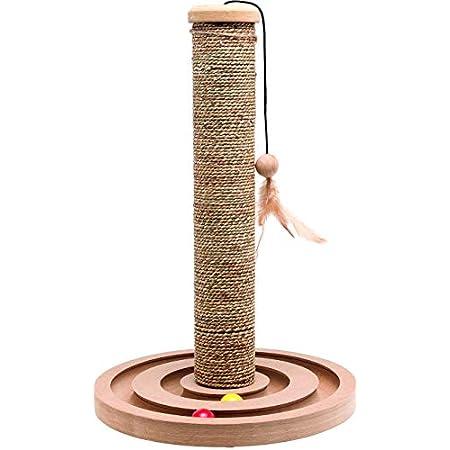 Karlie 560146 Kratzbaum Seegras +Spielzeug Brigitte H:44 cm, Durchmesser:30 cm