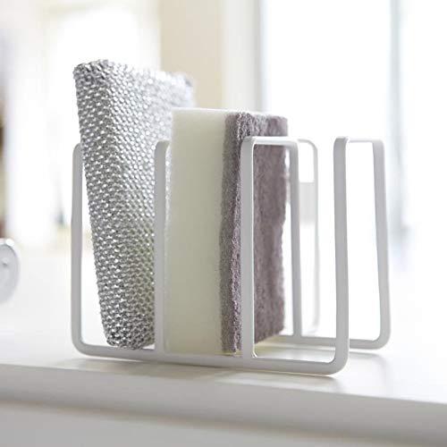 GWLYHZ Metall Küchenschwamm Abflusshalter Waschbecken Regal Seife Schwamm hängen Abfluss Rack Kitchen Organizer Storage Tool