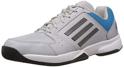 adidas Men's Torus Silver, Black and Solar Blue Tennis Shoes - 12 UK