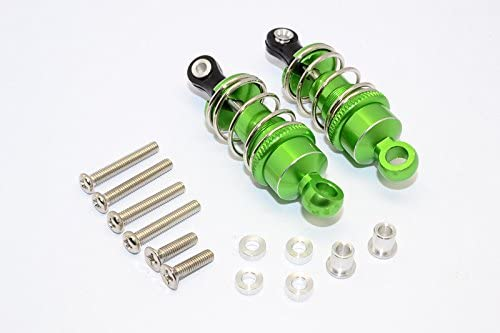 1/10 Touring - Aluminium Ball Ball Ball Top Damper (50mm) With Aluminium Collars & Washers & Screws - 1Pr Set Green | Up-to-date Styling