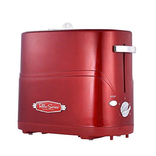 Nostalgia Electrics HDT600 - Máquina Tostadora de Pan y Perritos Calientes,650W,Color Rojo Metálico